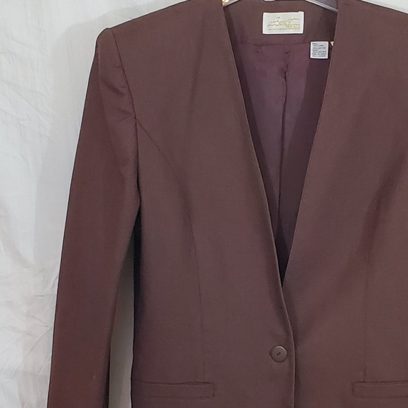 Apart Fashion Jackets & Blazers - Apart Fashion Brown Career Blazer Lined Size 14